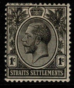 MALAYA STRAITS SETTLEMENTS SG218 1922 1c BLACK MTD MINT