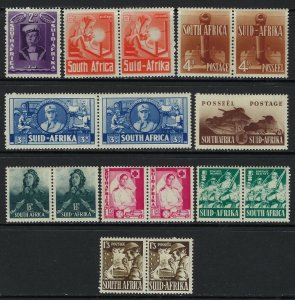 South Africa Scott 81-89 Mint Never Hinged - some attached pairs