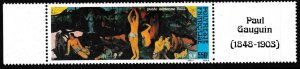 French Polynesia 1985 Airmail Scott C212 ART by Paul Gauguin Single with Margins