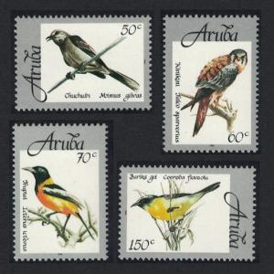 Aruba Mockingbird Kestrel Troupial Bananaquit Birds 4v SG#225-228