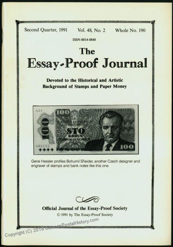 Essay-Proof Journal No190 Czechoslovakia China 44699
