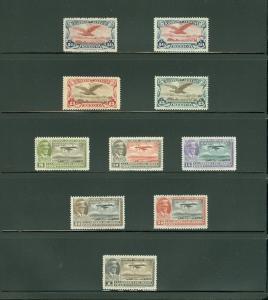 EDW1949SELL : MEXICO 1927-32 Scott #C2-50 Cplt except for C2 & 47 VFMOG Cat $401