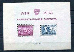 Lithuania/Litauen 1939 Souvenir Sheet Mi Block 1 Smetona  MNH  10464