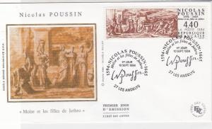 France 1994 Celebrating Nicolas Poussin Cancels Pic + Stamp FDC Cover Ref 31649
