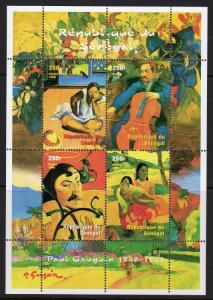 Senegal 1999 YT#1578/1581 PAUL GAUGUIN Sheetlet (4) Perforated MNH