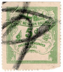 (I.B) Great Western Railway : Prepaid Newspaper Parcel 5d (no control)