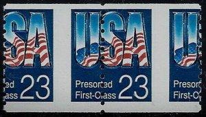 2607 - 23c Huge Misperf Error / EFO Pair USA Mint NH