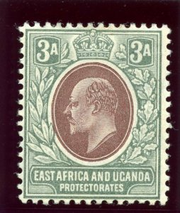 K.U.T. 1904 KEVII 3a brown-purple & green (O) MLH. SG 22. Sc 21.