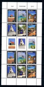 [ARV848] Aruba 2015 Tourism Cruise Ship Lighthouse Train Souvenir Sheet MNH