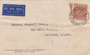 ST269) Nice Australian Pre-Decimal Cover (see images)