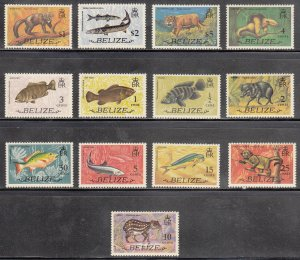 Belize Scott #327-339 MNH
