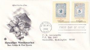 2002, Hawaiian Missionaries-2c & 5c, PCS, FDC (E12059)