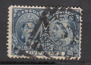 J25671 JLstamps 1897 canada used #54 victoria