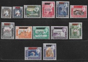 South Arabia Seiyun Michel 42-54 MNH c.v. 50 Euro