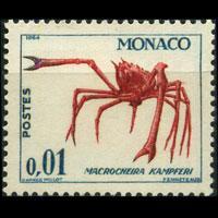 MONACO 1964 - Scott# 581 Spider Crab 1c LH