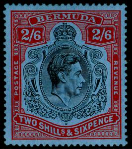 BERMUDA SG117, 2s 6d Black & Red/Grey-Blue, M MINT. Cat £70. CHALKY