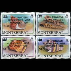 MONTSERRAT 1988 - Scott# 698-701 Shells Opt. Set of 4 NH