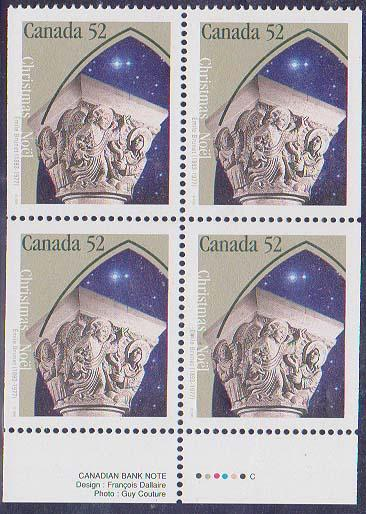 Canada USC #1586as Mint VF-NH Cat. $6. as Single Stamps Only - 52c Annunciation