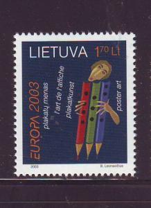 Lithuania Sc 743 2003 Europa stamp mint NH
