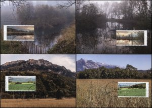 Liechtenstein. 2015. Nature Reserves in Liechtenstein (Mint) Set of 4 Maxi Cards