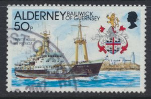 GB Alderney Channel Islands SG A51 Used Casquets Lighthouse 1991 SC# 64 See scan