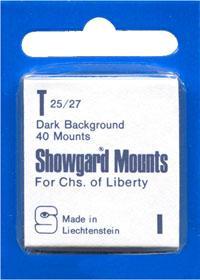 Mounts Showgard, 25/27mm (40ea Black) (00505B)