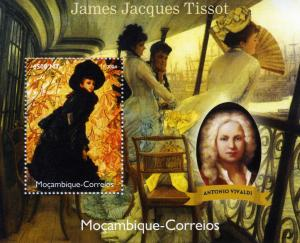 Mozambique 2004 VIVALDI Paintings TISSOT s/s Perforated Mint (NH)