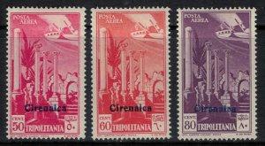 Cyrenaica #C1-3*  CV $14.60