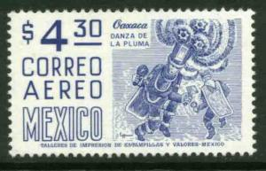 MEXICO C448, $4.30 1950 Def 8th Issue Fosforescent coated. MINT, NH. F-VF.