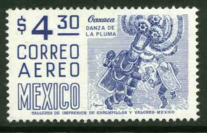 MEXICO C448 $4.30 1950 Def 8th Issue Fosforescent coated MNH