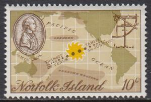 Norfolk Is. 122 MNH - Map