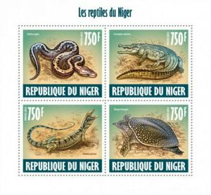 Niger - 2013 Reptiles of Niger - 4 Stamp Sheet - 14A-324