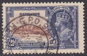 Barbados Sc #188 Used; Mi #150 Silver Jubilee