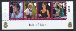 Isle of Man MUH SG 813 - 816  se tenant strip of 4