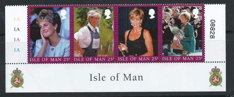 Isle of Man MUH SG 813 - 816  se tenant strip of 4