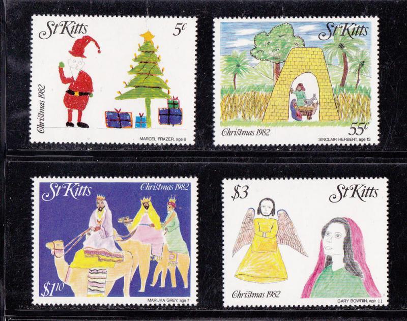 St. Kitts MNH 102-5 Christmas 1982