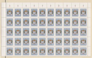 Staffa, Queen Elizabeth's Silver Jubilee Full Sheet of 100 stamps, NH
