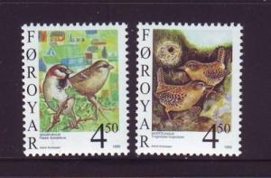 Faroe Islands Sc 350-1 1999 birds stamp set mint NH