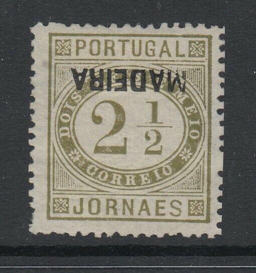 Madeira, Scott P1a, MLH, Inverted Overprint