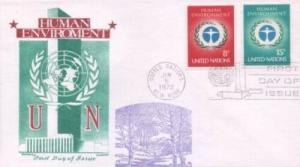 UN #229/230 HUMAN ENVIROMENT - Overseas Mailer