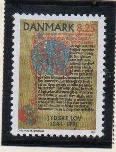 Denmark  Scott 938 1991 Jutland Law stamp mint NH