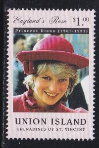 St. Vincent - Union Island, Diana, Princess of Wales, NH, 1/2 Cat.