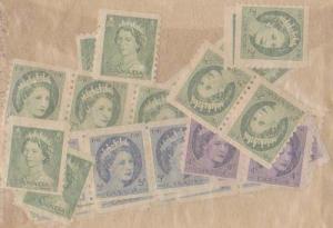 Canada USC #331,345,347-8 Mint 56 Early QEII Coils - Cat. $110. - F-NH