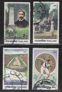 THAILAND Scott 1677-1680 Used Olympic set