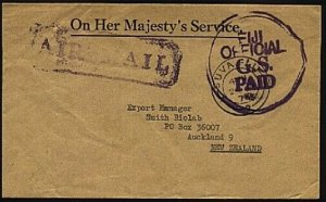 FIJI 1978 OHMS cover - large Official Paid handstamp ex Suva...............98440