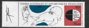 FRENCH SOUTHERN & ANTARCTIC TERRITORIES SG205 1985 EXPLORER & FUR SEAL MNH
