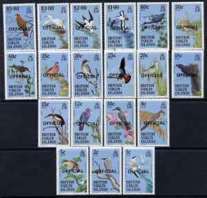 British Virgin Islands 1986 Birds definitive set complete...