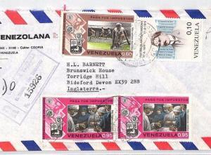 BT24 1974 Venezuela Valencia Commercial Registered Air Mail Cover {samwells}PTS