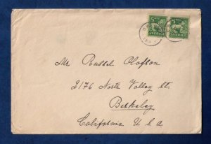 Sweden Sc #116 Vert Pair On A Cover to USA F-VF