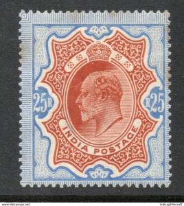 INDIA- 1902- ke-25rs sg no 147 mm cv 3000 gbp